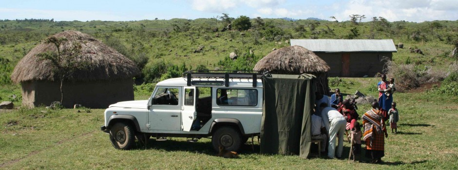 Field team at work in Tanzania