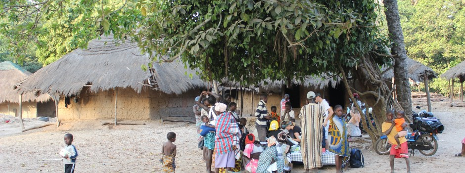 Mobile trachoma screening clinic, Canogo, Bijagos Archipelago, Guinea Bissau